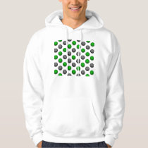 Green and Gray Basketball Pattern Hoodie