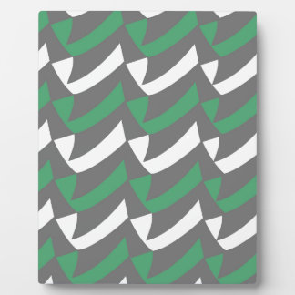 Green and Gray Checks Plaque