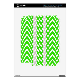 Green And Gray Chevron Stripes iPad 3 Decals