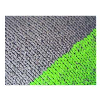Green and Gray Geometric Sweater Postcard