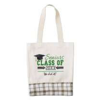 Green and  Gray Graduation Gear Zazzle HEART Tote Bag