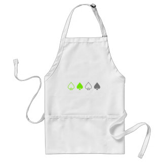 Green and Gray Spades Adult Apron