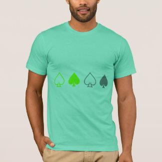 Green and Gray Spades T-Shirt
