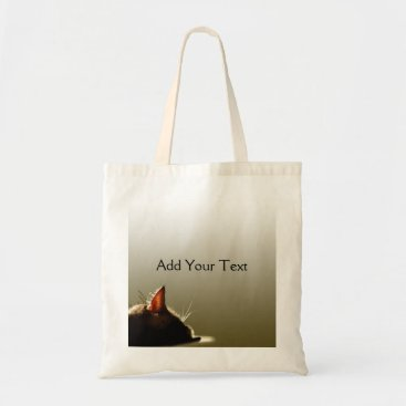 Professional Business Green and Grey Cat Nap Tote Bag