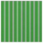 [ Thumbnail: Green and Grey Colored Lines/Stripes Pattern Fabric ]