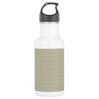Green and Grey Flower Pattern 18oz Water Bottle