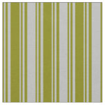 [ Thumbnail: Green and Grey Lines Fabric ]
