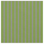 [ Thumbnail: Green and Grey Lines/Stripes Pattern Fabric ]