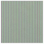 [ Thumbnail: Green and Grey Pattern Fabric ]
