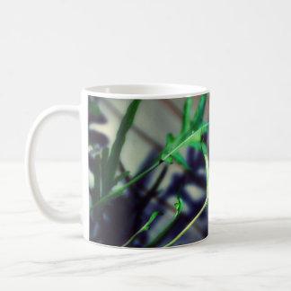 green and happy coffee mug