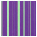 [ Thumbnail: Green and Indigo Striped/Lined Pattern Fabric ]