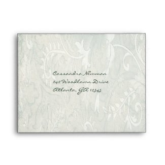 Green and Ivory Floral A2 Envelope for RSVP Card envelope