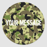 Green and Khaki Camoflage Sticker at Zazzle