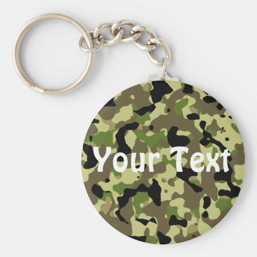 Green and Khaki Keychain Key Chain