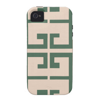 Green and Khaki Tile Case-Mate iPhone 4 Covers