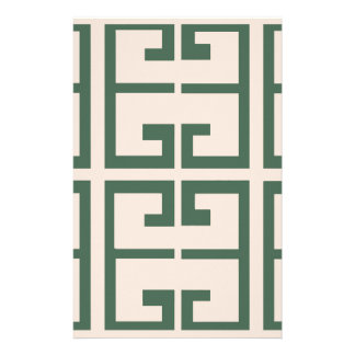 Green and Khaki Tile Stationery