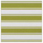 [ Thumbnail: Green and Lavender Colored Stripes Pattern Fabric ]