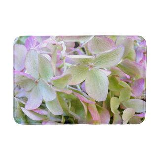 Green and Lavender Hydrangea Floral Bath Mat Bath Mats