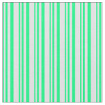 [ Thumbnail: Green and Lavender Stripes Pattern Fabric ]