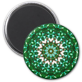 Green and light blue ribbons 2 inch round magnet