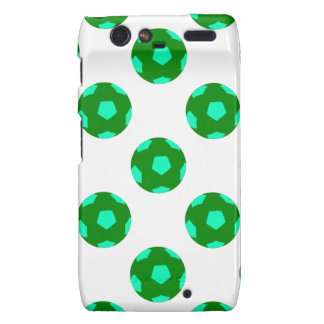 Green and Light Blue Soccer Ball Pattern Droid RAZR Case