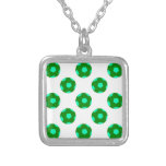 Green and Light Blue Soccer Ball Pattern Pendants