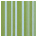 [ Thumbnail: Green and Light Blue Stripes Fabric ]