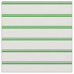 [ Thumbnail: Green and Light Cyan Colored Striped Pattern Fabric ]