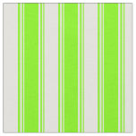 [ Thumbnail: Green and Light Cyan Colored Stripes Fabric ]
