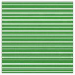 [ Thumbnail: Green and Light Cyan Pattern of Stripes Fabric ]