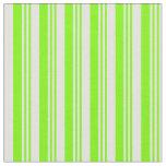 [ Thumbnail: Green and Light Cyan Stripes Fabric ]