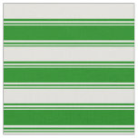 [ Thumbnail: Green and Light Cyan Stripes/Lines Pattern Fabric ]