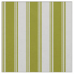 [ Thumbnail: Green and Light Gray Lines Pattern Fabric ]