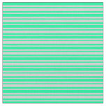 [ Thumbnail: Green and Light Grey Colored Lined Pattern Fabric ]