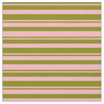 [ Thumbnail: Green and Light Pink Colored Pattern Fabric ]