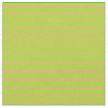 [ Thumbnail: Green and Light Salmon Colored Stripes Pattern Fabric ]