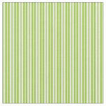 [ Thumbnail: Green and Light Yellow Colored Lines Pattern Fabric ]