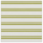 [ Thumbnail: Green and Light Yellow Colored Pattern Fabric ]