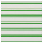 [ Thumbnail: Green and Light Yellow Colored Pattern of Stripes Fabric ]