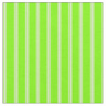 [ Thumbnail: Green and Light Yellow Colored Stripes Fabric ]
