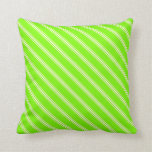 [ Thumbnail: Green and Light Yellow Colored Stripes Pillow ]