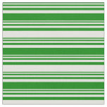 [ Thumbnail: Green and Light Yellow Lined Pattern Fabric ]