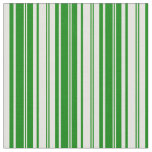 [ Thumbnail: Green and Light Yellow Lines/Stripes Pattern Fabric ]