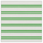 [ Thumbnail: Green and Light Yellow Stripes Fabric ]