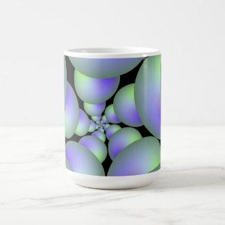 Green and Lilac Sphere Spiral Mug