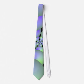 Green and Lilac Sphere Spiral Tie
