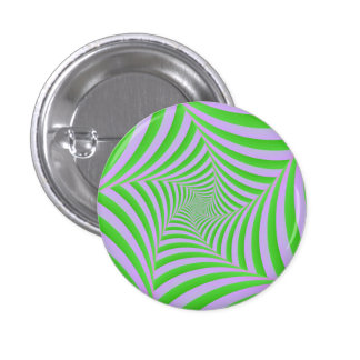 Green and Lilac Spiral Button