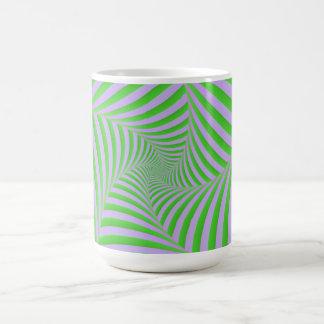 Green and Lilac Spiral Mug