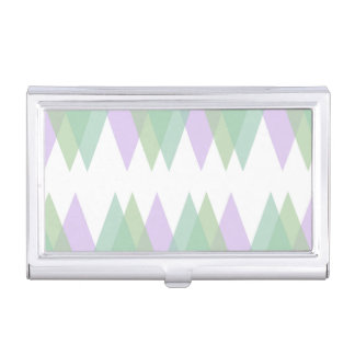 Green and lilac triangles business card case