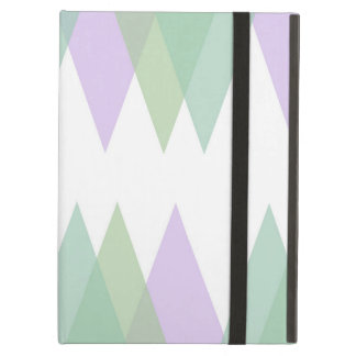 Green and lilac triangles case for iPad air
